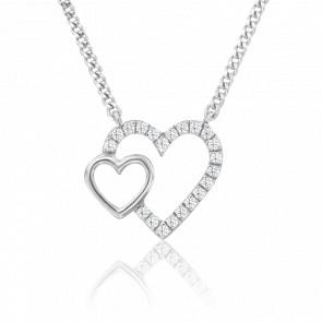 Collier Nehal Or Blanc 18K et Diamants