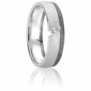 Alliance Paros Diamants & Or Blanc 18K