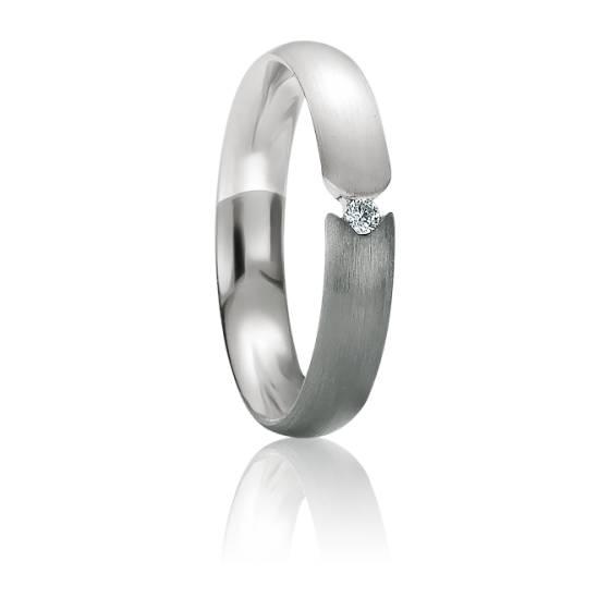 Alliance Samos en Or Blanc 18K & Diamant