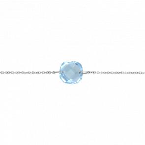 Bracelet-Chaîne Coussin Topaze Bleue - Bellon