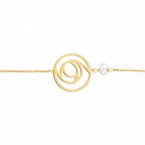 Bracelet Arabesque Perle & Or Jaune 18K - Bellon