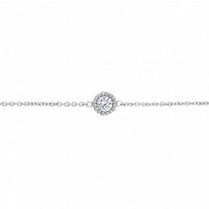 Bracelet Diamants 0,08 ct & Or Blanc 18K - Bellon