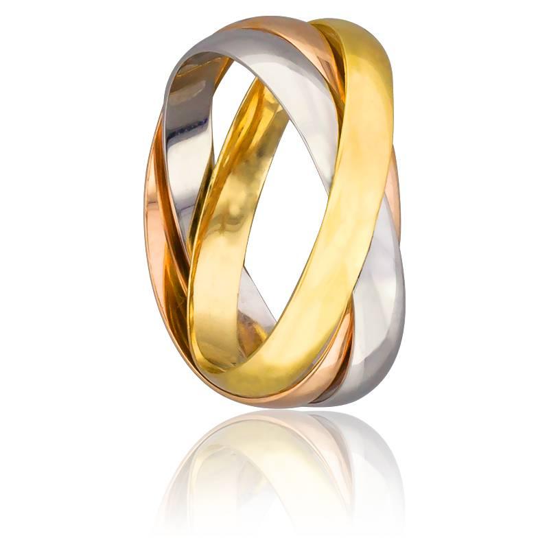 Bague homme 3 anneaux or