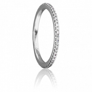 Alliance Bianca Platine et Diamants G/SI1 0,25ct