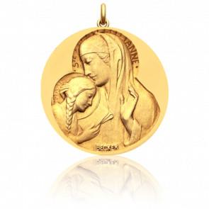 Médaille Sainte Anne Or Jaune 18K