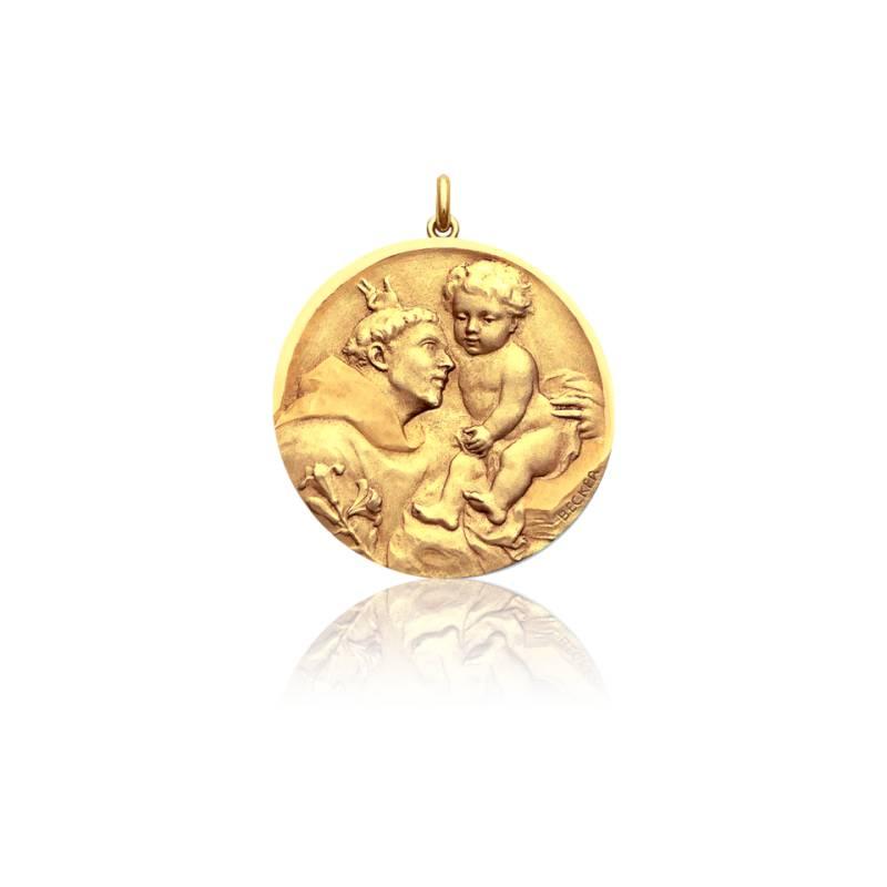 Médaille Saint Antoine de Padoue Or Jaune 18K