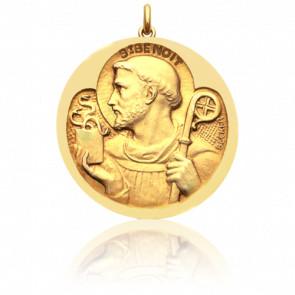 Médaille Saint Benoit Or Jaune 18K - Becker