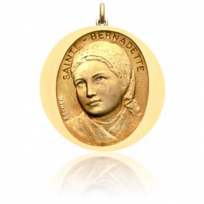 Médaille Sainte Bernadette Or Jaune 18K - Becker