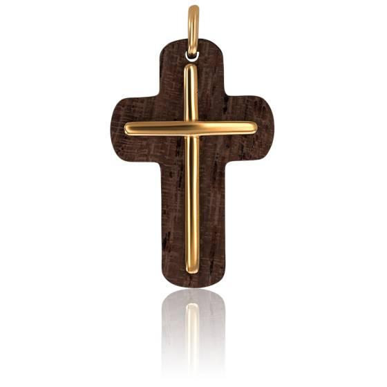 pendentif en forme de croix en or et bois d 39 olivier ocarat. Black Bedroom Furniture Sets. Home Design Ideas