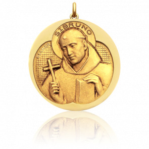 Médaille Saint Bruno Or Jaune 18K