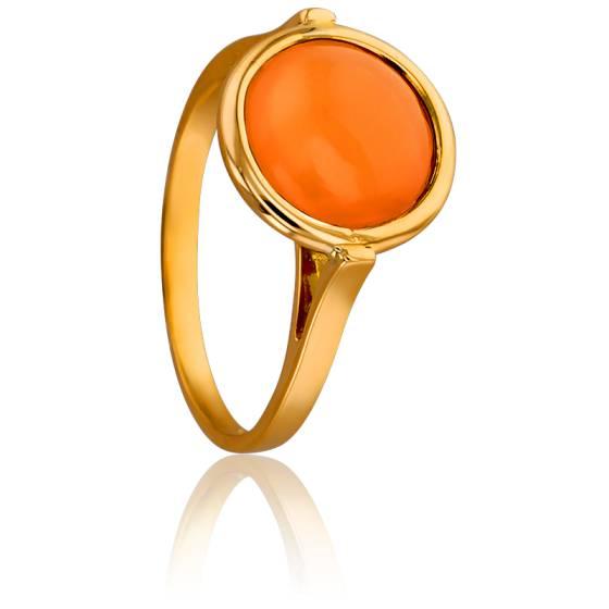 bague or pierre orange