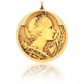 Médaille Sainte Catherine Or Jaune 18K