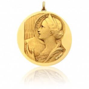 Médaille Sainte Cécile Or Jaune 18K - Becker