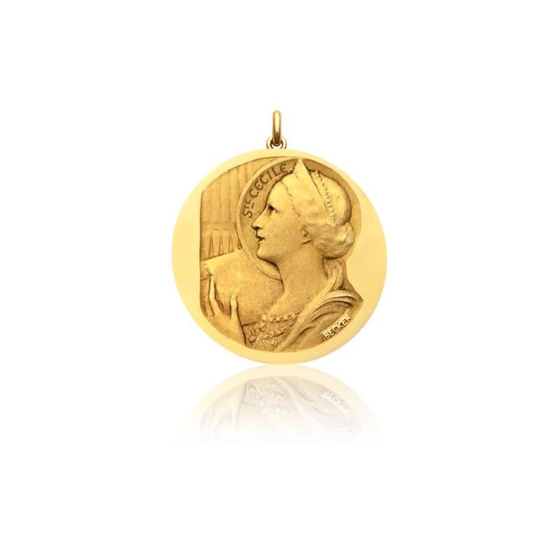 Médaille Sainte Cécile Or Jaune 18K
