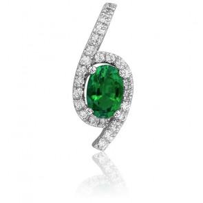 Pendentif Emeraude Ovale & Diamants