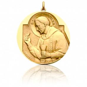 Médaille Saint Charles Or Jaune 18K