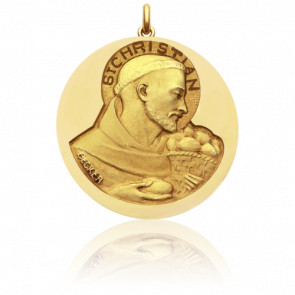Médaille Saint Christian Or Jaune 18K