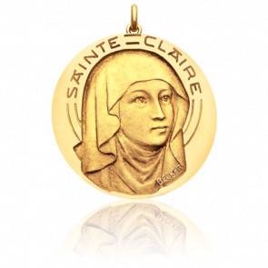 Médaille Sainte Claire Or Jaune 18K