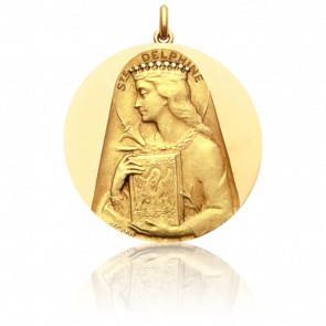 Médaille Sainte Delphine Or Jaune 18K
