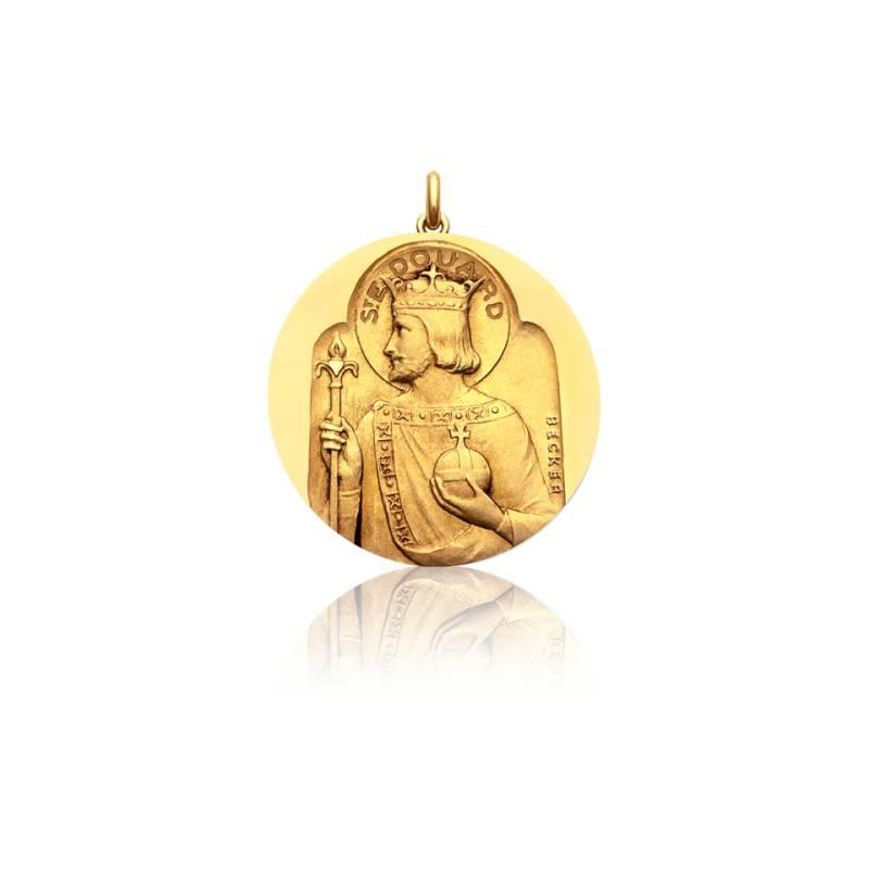 Médaille Saint Edouard Or Jaune 18K