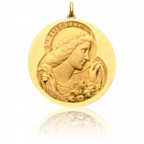 Médaille Sainte Elisabeth Or Jaune 18K