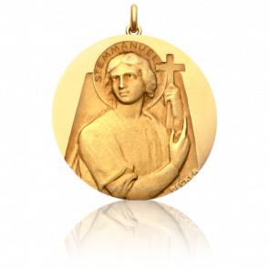Médaille Saint Emmanuel Or Jaune 18K