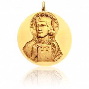 Médaille Saint Eric Or Jaune 18K