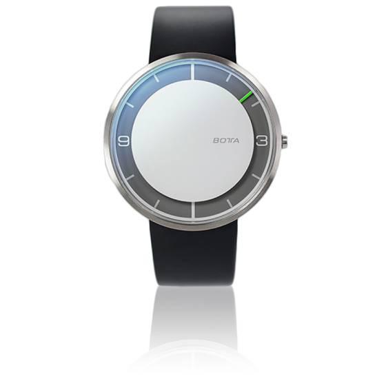 Nova Quartz White Dial Leather Black