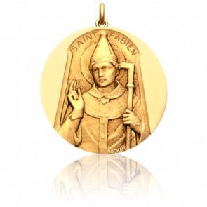 Médaille Saint Fabien Or Jaune 18K