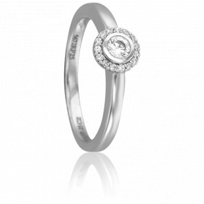 Bague Mysore Or Blanc 18K et Diamants