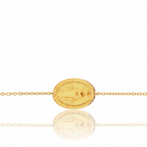Bracelet Médaille Vierge Miraculeuse Or Jaune 18K - Ocarat