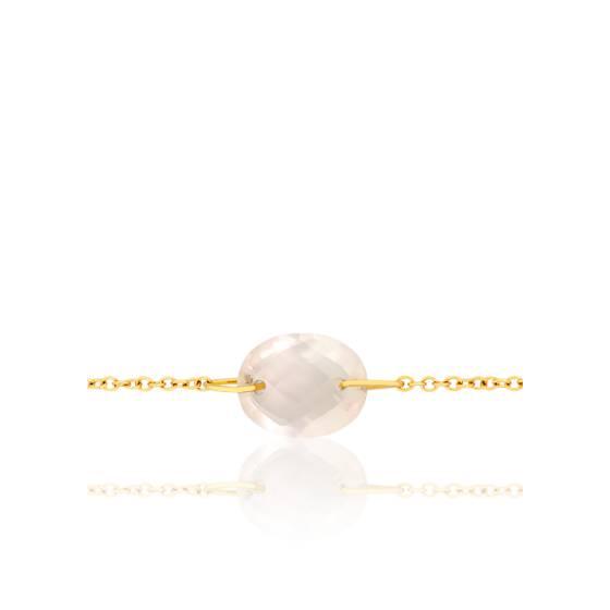 Bracelet-Chaine Gemma Quartz Rose - Bellon