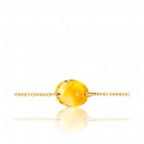 Bracelet-Chaine Gemma Citrine - Bellon
