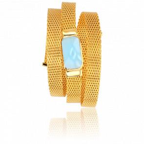 Bracelet Triple Bleu Clair Collection Hera