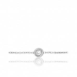 Bracelet-Chaîne Izar, Or blanc & Diamant