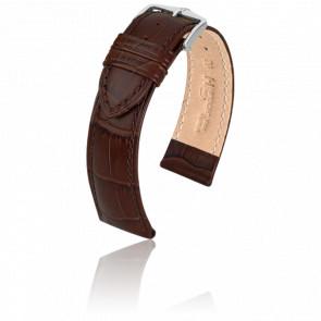 Bracelet Duke Marron / Silver - Entrecorne 20 mm