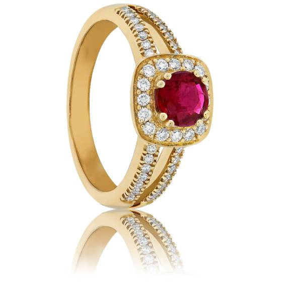Bague Rubis Royal Or Jaune