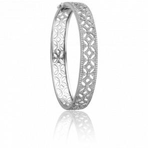 Bracelet Dentelle Or Blanc 18K & Diamants - Joelli