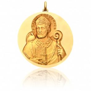 Médaille Saint Frédéric Or Jaune 18K