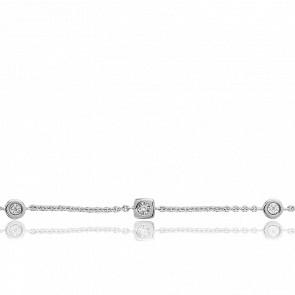 Bracelet Rond Carré & Diamants - Joelli