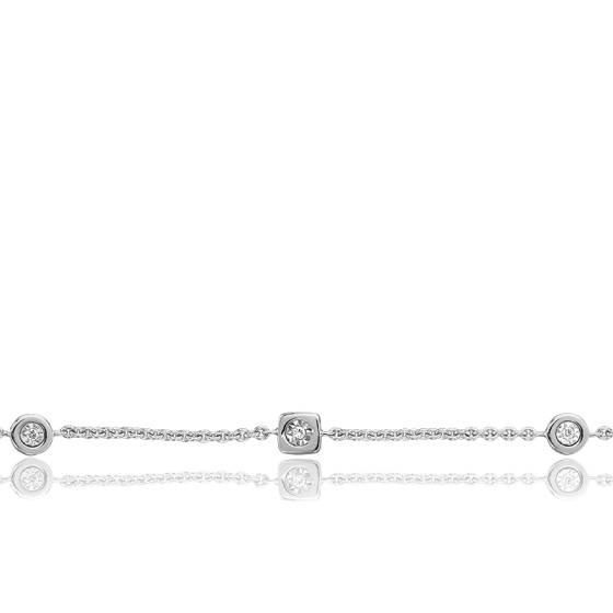 Bracelet Rond Carré & Diamants