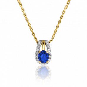 Collier Ovale Saphir & Diamants
