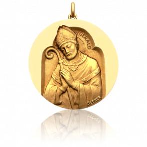 Médaille Saint Gerald Or Jaune 18K