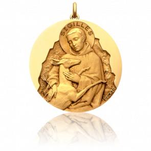Médaille Saint Gilles Or Jaune 18K