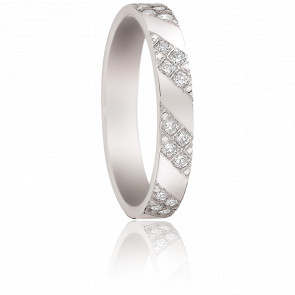Alliance Tibre en Or blanc 18K & Diamants