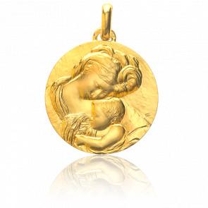 Médaille Madone du Caravage Or Jaune 18K