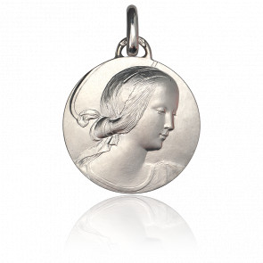 Médaille Vierge de Milan 18 mm Argent