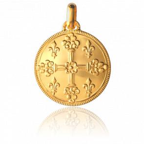 Médaille Croix de Saint-Louis Or Jaune 18K