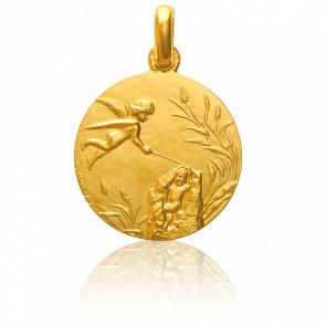 Médaille Réversible Naissance Or Jaune 18K