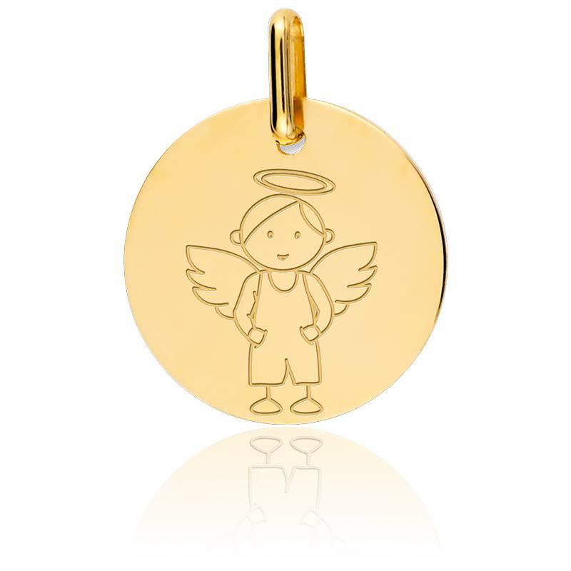 Médaille My Angel Garçon Or Jaune 9K